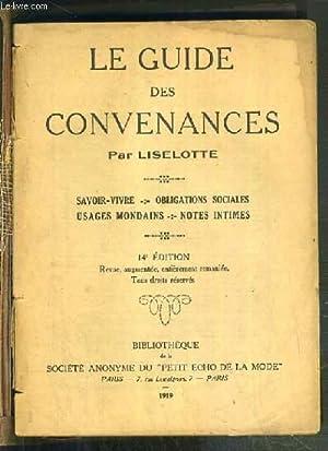 LE GUIDE DES CONVENANCES / SAVOIR VIVRE: LISELOTTE