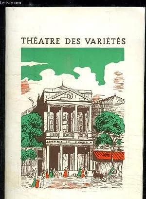 PROGRAMME DE THEATRE: DES VARIETES/ FLORA/avec en: MAUREY DENIS ET
