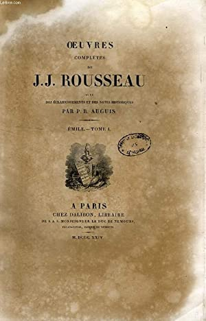 OEUVRES COMPLETES DE J. J. ROUSSEAU, TOMES: ROUSSEAU J.-J., Par
