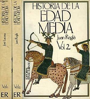 HISTORIA DE LA EDAD MEDIA, 2 TOMOS: LACARRA Y DE MIGUEL JOSE M.a, REGLA CAMPISTOL J.