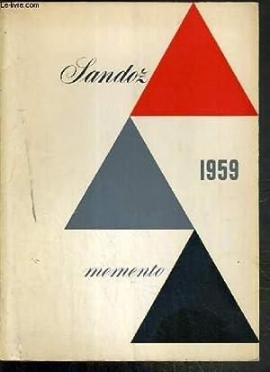 MEMENTO SANDOZ 1959 - NOUVELLE FORME -: COLLECTIF