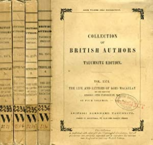 THE LIFE AND LETTERS OF LORD MACAULAY, 4 VOLUMES (TAUCHNITZ EDITION, COLLECTION OF BRITISH AND ...