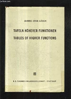 TAFELN HOHERER FUNKTIONEN / TABLES OF HIGHER: JAHNKE EMDE LOSCH