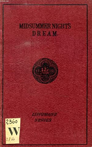 SHAKSPEARE'S (SHAKESPEARE) COMEDY OF A MIDSUMMER-NIGHT'S DREAM: SHAKESPEARE William, By