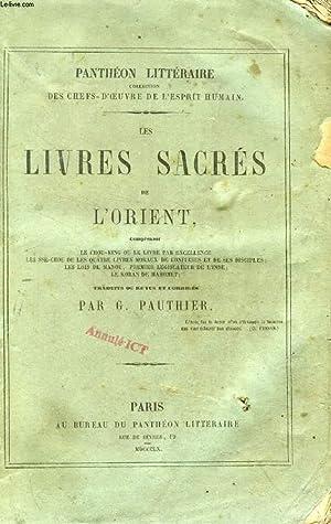 LES LIVRES SACRES DE L'ORIENT (Le Chou-King: PAUTHIER G.