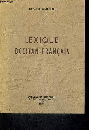 LEXIQUE OCCITAN FRANCAIS: BARTHE ROGER