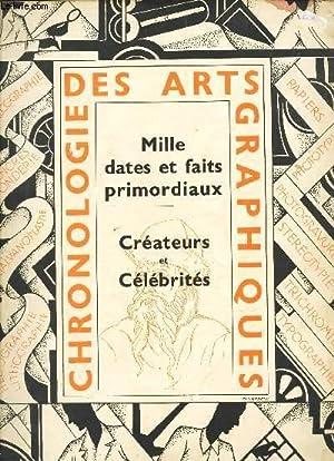 CHRONOLOGIE DES ARTS GRAPHIQUES / Mille dates et faits primordiaux - Creatteurs et célébrités.: ...