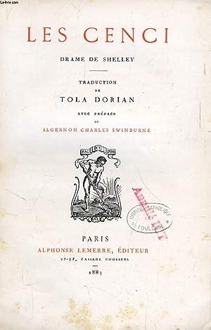LES CENCI: SHELLEY PERCY BYSSHE, Par T. DORIAN