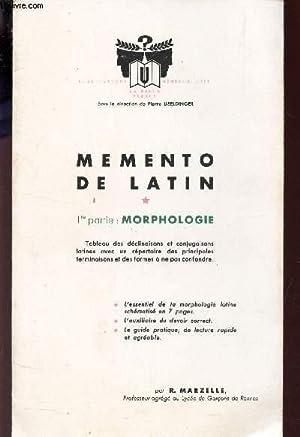 PLAQUETTE DEPLIANTE : MEMENTO DE LATIN -: MARZELLE R. /