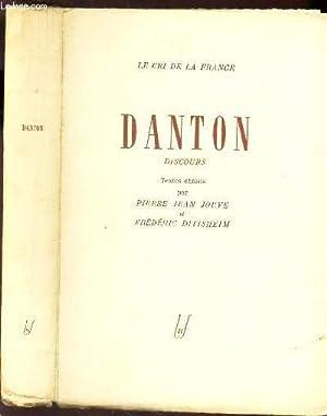 """DANTON / """"LE CRI DE LA FRANCE"""".: JOUVE PIERRE JEAN / DITISHEIM FREDERIC"""