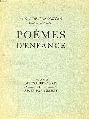 POEMES D'ENFANCE: BRANCOVAN ANNA DE (Contesse de Noailles)