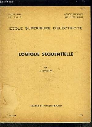 LOGIQUE SEQUENTIELLE- SESSIONS DE PERFECTIONNEMENT- ECOLE SUPERIEURE D ELECTRICITE- SOCIETE ...