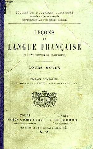 LECONS DE LANGUE FRANCAISE, COURS MOYEN: COLLECTIF