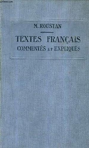 TEXTES FRANCAIS COMMENTES ET EXPLIQUES .: M.ROUSTAN