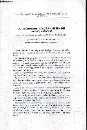 LA TECHNIQUE D'AGRANDISSEMENT RADIOLOGIQUE (NOUVELLE TECHNIQUE EN: DR G.J. VAN