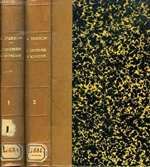 L'ODYSSEE D'HOMERE, TEXTE GREC, 2 TOMES (CHANTS I-XII, XIII-XXIV: HOMERE, Par A. PIERRON