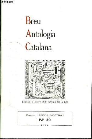 BREU ANTOLOGIA CATALANA (TEXTOS D'AUTORS DELS SEGLES: GUAL RAMON