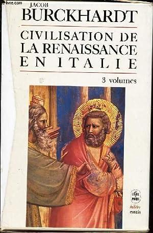 CIVILISATION DE LA RENAISSANCE EN ITALIE -: JACOB BURCKHARDT