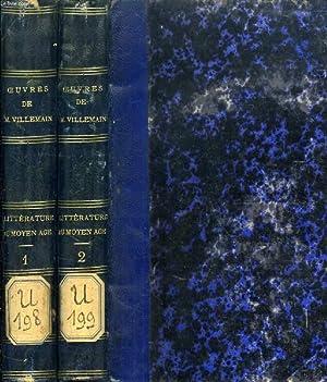 COURS DE LITTERATURE FRANCAISE, TABLEAU DE LA LITTERATURE DU MOYEN AGE, 2 TOMES: VILLEMAIN M.