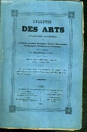 BULLETIN DES ARTS GUIDE DES AMATEURS DE TABLEAUX, DESSINS, ESTAMPES, LIVRES, MANUSCRITS. - 6eme ...