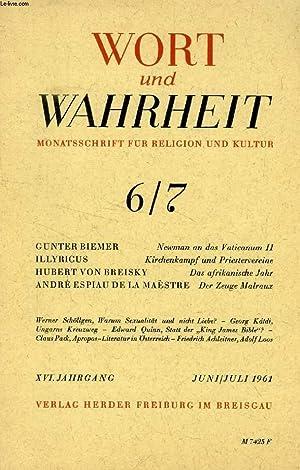 DER ZEUGE MALRAUX (WORT UND WAHRHEIT, 6-7, JUNI-JULI 1961, SONDERABDRUCK): ESPIAU DE LA MAESTRE ...