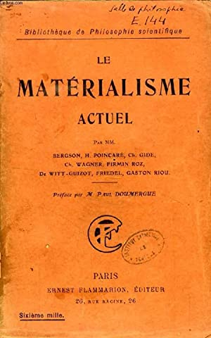 LE MATERIALISME ACTUEL: COLLECTIF