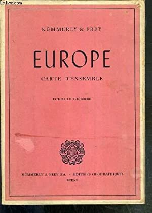 1 CARTE DEPLIANTE EN COULEUR - EUROPE CARTE D'ENSEMBLE de dimension: 64 x 53.5 cm environs - ...