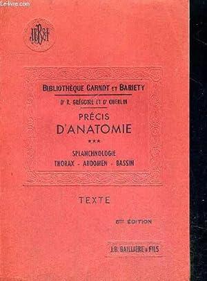 PRECIS D ANATOMIE - TOME 3 -: GREGOIRE R. DR