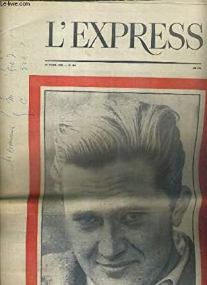 L'EXPRESS - N° 357 - 17 AVRIL 1958 - 5eme ANNEE - MAREK HLASKO, 25 ANS, ROMANCIER POLONAIS...