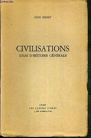 CIVILISATIONS - ESSAI D'HISTOIRE GENERALE: EMERY LEON