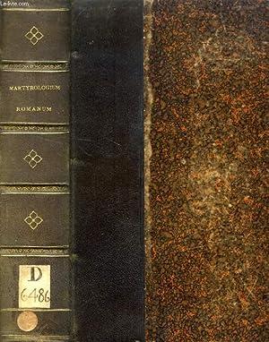 MARTYROLOGIUM ROMANUM GREGORII XIII JUSSU EDITUM URBANI VIII ET CLEMENTIS X AUCTORITATE RECOGNITUM:...