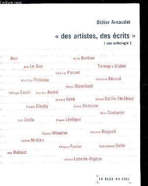DES ARTISTES DES ECRITS: ARNAUDET DIDIER