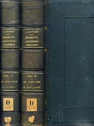 REGESTA PONTIFICUM ROMANORUM, 2 VOL., INDE AB A. POST CHRISTUM NATUM MCXCVII AD A. MCCCIV: POTTHAST...