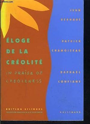 ELOGE DE LA CREOLITE: BERNABE JEAN- CHAMOISEAU-