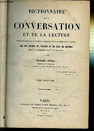 DICTIONNAIRE DE LA CONVERSATION ET DE LA LECTURE - EN 16 VOLUMES (MANQUE 1ER VOLUME): COLLECTIF
