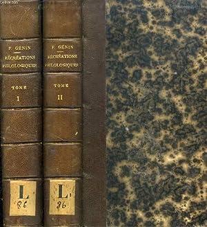 RECREATIONS PHILOLOGIQUES, 2 TOMES, OU RECUEIL DE NOTES POUR SERVIR A L'HISTOIRE DES MOTS DE ...