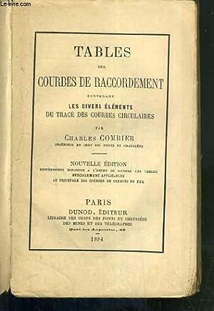 TABLES DES COURBES DE RACCORDEMENT CONTENANT LES: COMBIER CHARLES