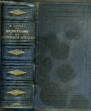 DICTIONNAIRE DES MATHEMATIQUES APPLIQUEES COMPRENANT LES PRINCIPALES: SONNET H.