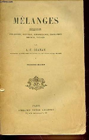 MELANGES - RELIGION / PHILOSOPHIE, POLITIQUE, JURISPRUDENCE,: OZANAM A.-F.