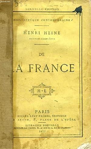 DE LA FRANCE: HEINE HENRI