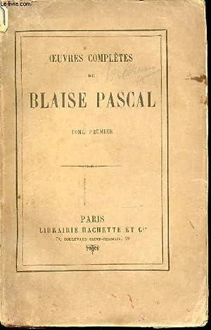 OEUVRES COMPLETES DE BLAISE PASCAL - TOME1.: PASCAL BLAISE