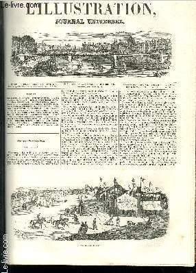 L'ILLUSTRATION JOURNAL UNIVERSEL N° 33 - (Camp de Lyon ; une gravure. — Courrier de Paris....