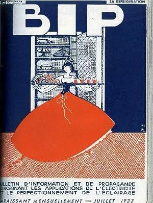 BIP N°58 6E ANNEE JUILLET 1933 - les chambres froides - les immeubles rafraichis de Fès ...