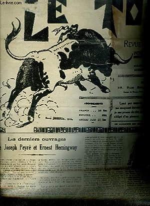 LE TORIL REVUE TAUROMACHIQUE N°574 17E ANNEE SEPTEMBRE 1938 - les derniers ouvrages de Joseph ...