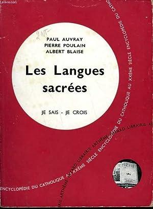 LES LANGUES SACREES. COLLECTION JE SAIS-JE CROIS: AUVRAY PAUL, POULAIN