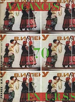 FRANCE - U.R.S.S MAGAZINE N°22. VACANCES 1970, AEROFLOT LE TEMPS GAGNE, SOTCHI-SVETLANA, CROISIERE ...