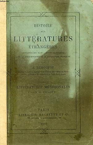 HISTOIRE DES LITTERATURES ETRANGERES CONSIDEREES DANS LEURS RAPPORTS AVEC LE DEVELOPPEMENT DE LA ...