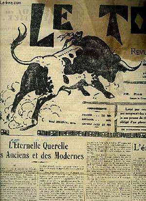 LE TORIL REVUE TAUROMACHIQUE N°569 13 AOUT 1938 - l'eternelle querelle des anciens et des ...
