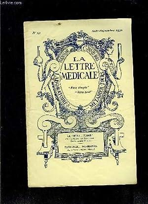 LE LETTRE MEDICALE- N° 53- août sept 1932- La méta.flore ou le Secret de FRan&...