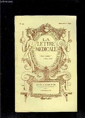 LE LETTRE MEDICALE- N° 55 - déc 1932- L'énigme du masque de fer- ...